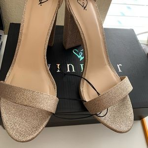 Glitter Block Heels